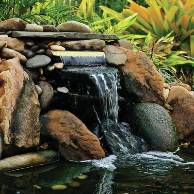 Lighted Waterfall LED Spillway Pond Boss Color: White