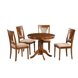 Inwood 5 Piece Solid Wood Dining Set DarHome Co