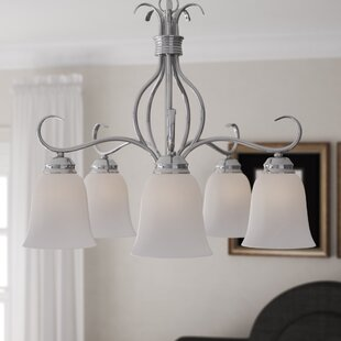 Birdsall 5-Light Shaded Chandelier by Three Posts