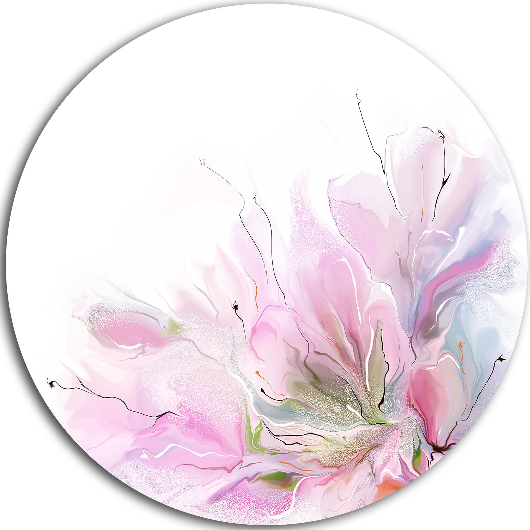 Designart Lovely Pink Flowers Graphic Art Print On Metal Wayfair