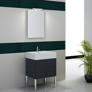 Smile 24 Single Wall Mount Bathroom Vanity Set with Mirror by Iotti by Nameeks