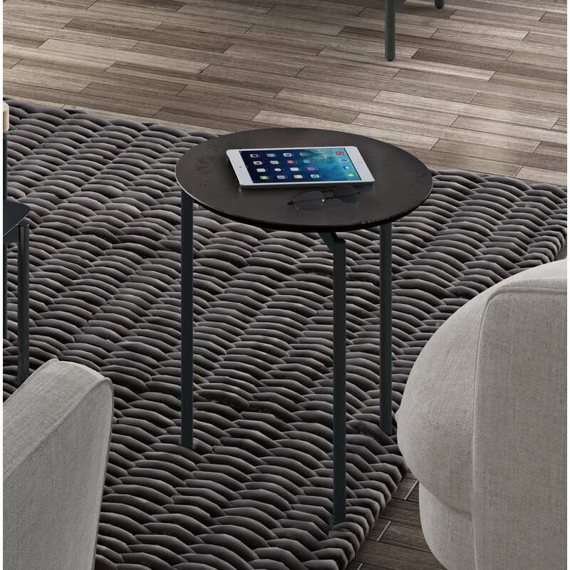 BDI Radius Round End Table  Color: Ferrous Ceramic