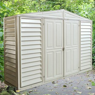 Duramax Building Products WoodBridge 10 ft. 6 in. W x 2 ft. 9 in. D Plastic Tool Shed