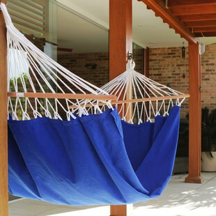 Single Person Fair Trade Comfortable Hand-Woven Brazilian Cotton Indoor And Outdoor Hammock by Novica