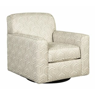 Mcferren Fabric Upholstered Swivel Armchair