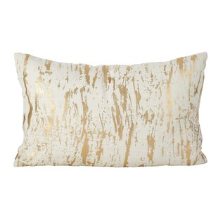 Aldgate Metallic Foil Print Cotton Lumbar Pillow