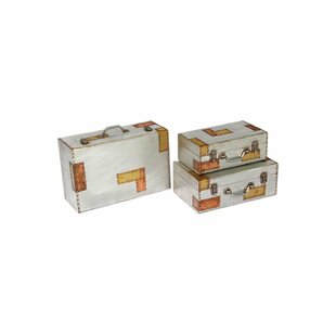 Aluminium And Copper 3 Piece Trunk Set By Borough Wharf