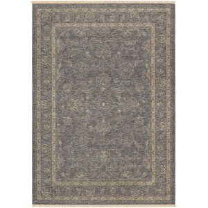 Nickalos Dusty Blue/Beige Area Rug