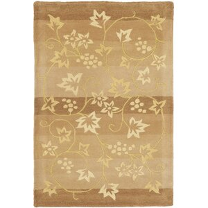 French Tapis Brown/Gold Area Rug