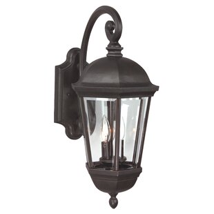 Charlton Home Oakhill 3-Light Aluminum Outdoor Wall Lantern