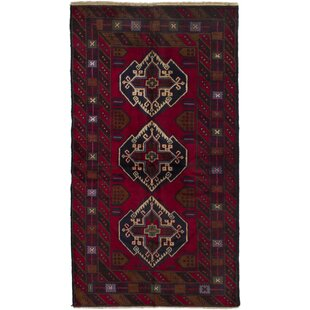 Reviews One-of-a-Kind Rosenblatt Hand-Knotted 3'5 x 6'4 Wool Red/Black Area Rug ByWorld Menagerie