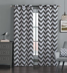 Quay Chevron Blackout Thermal Curtain Panels