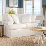 Rundle Cotton 60 Round Arm Loveseat by Beachcrest Home