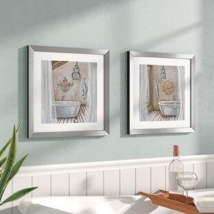 Bath & Laundry Wall Art You'll | Wayfair Fancy Bathroom Design Blueprint Html on