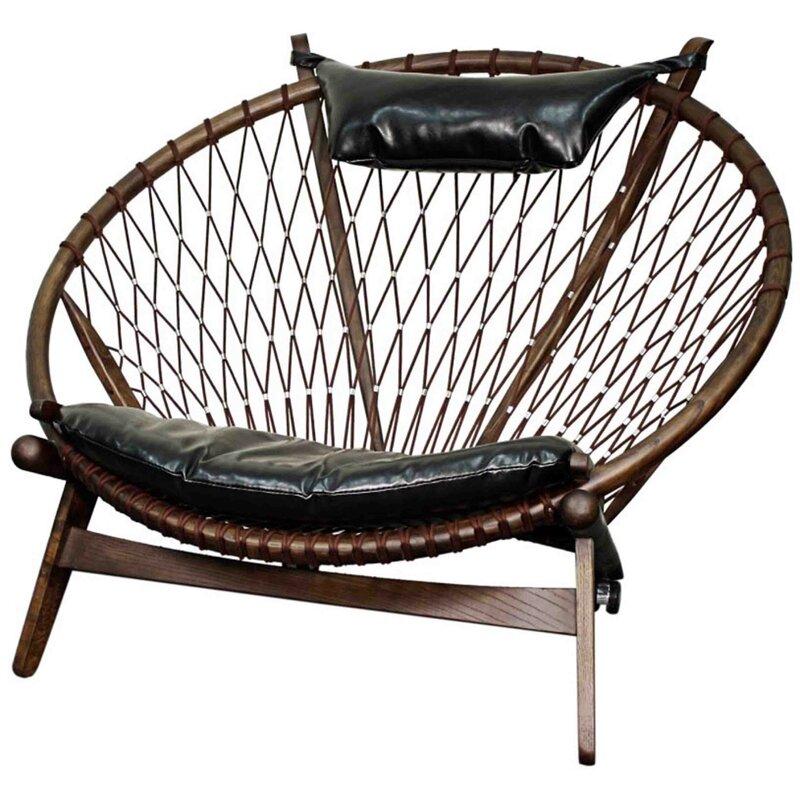 Pampasan Chair new pacific direct soren bonded leather papasan chair | wayfair