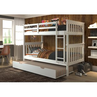 Compare prices Dubbo Twin over Twin Bunk Bed with Trundle by Harriet Bee Reviews (2019) & Buyer's Guide
