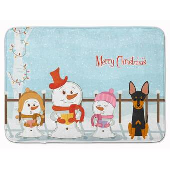The Holiday Aisle Polish Tatra Sheepdog Christmas Tree Rectangle Microfiber Non Slip Bath Rug Wayfair