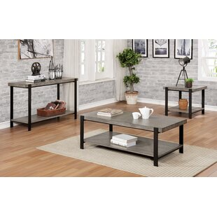 Hiro 3 Piece Coffee Table Set