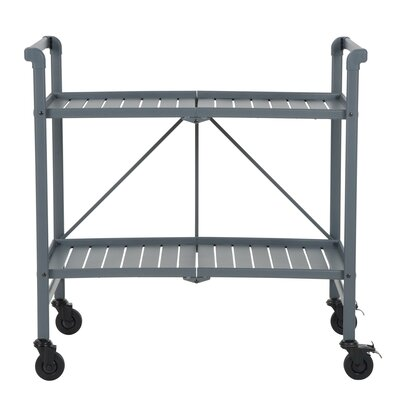 Greenbush Bar Cart Frame Color: Gray by Beachcrest Home