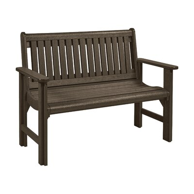 Alanna Plastic Garden Bench Color: Chocolate by Beachcrest Home