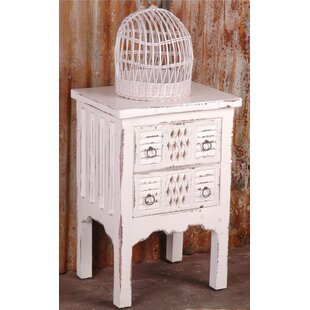 Adelmo Whitewashed End Table by August Grove