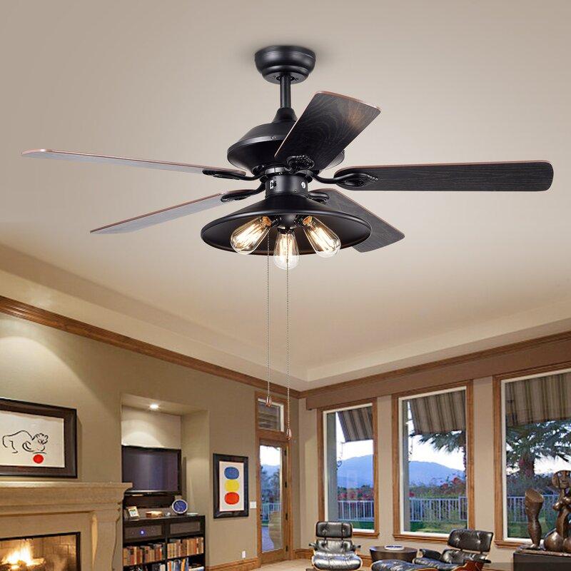 52 Nielson 3 Light 5 Blade Ceiling Fan