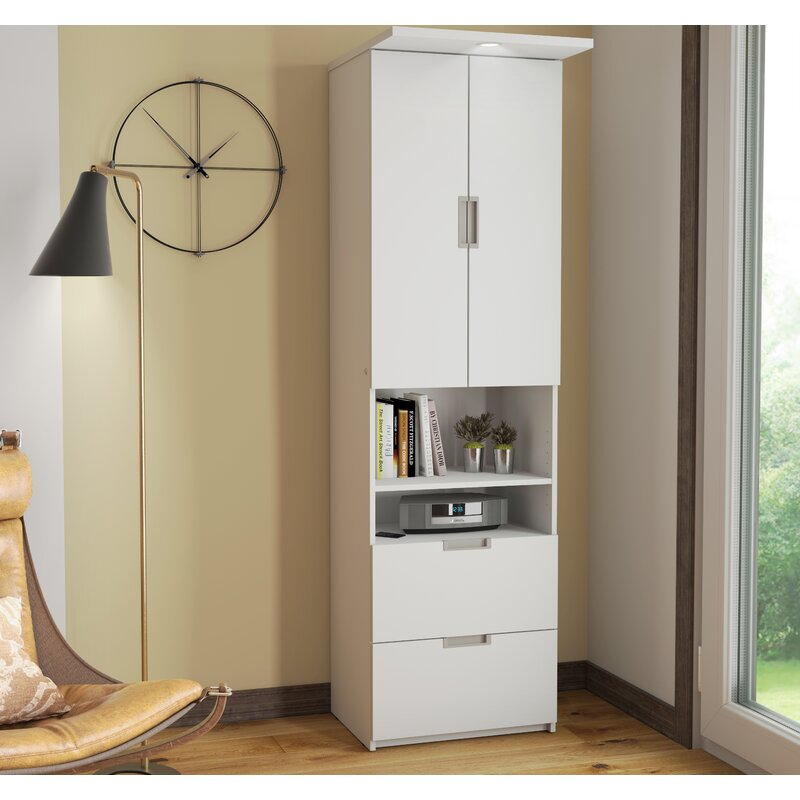 "Latitude Run Juniper 23.5"" Storage Unit with Drawers and Doors"