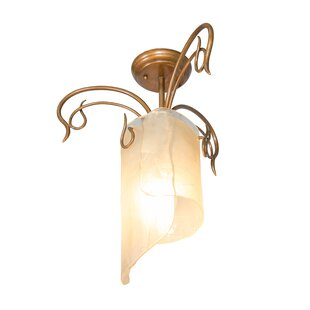 Shery Recycled Semi Flush Mount Ceiling Light by World Menagerie
