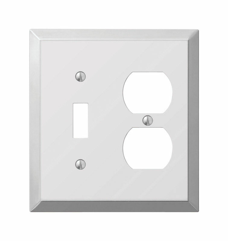 Symple Stuff Tindal 2 Gang Duplex Outlet Toggle Light Switch Combination Wall Plate Wayfair