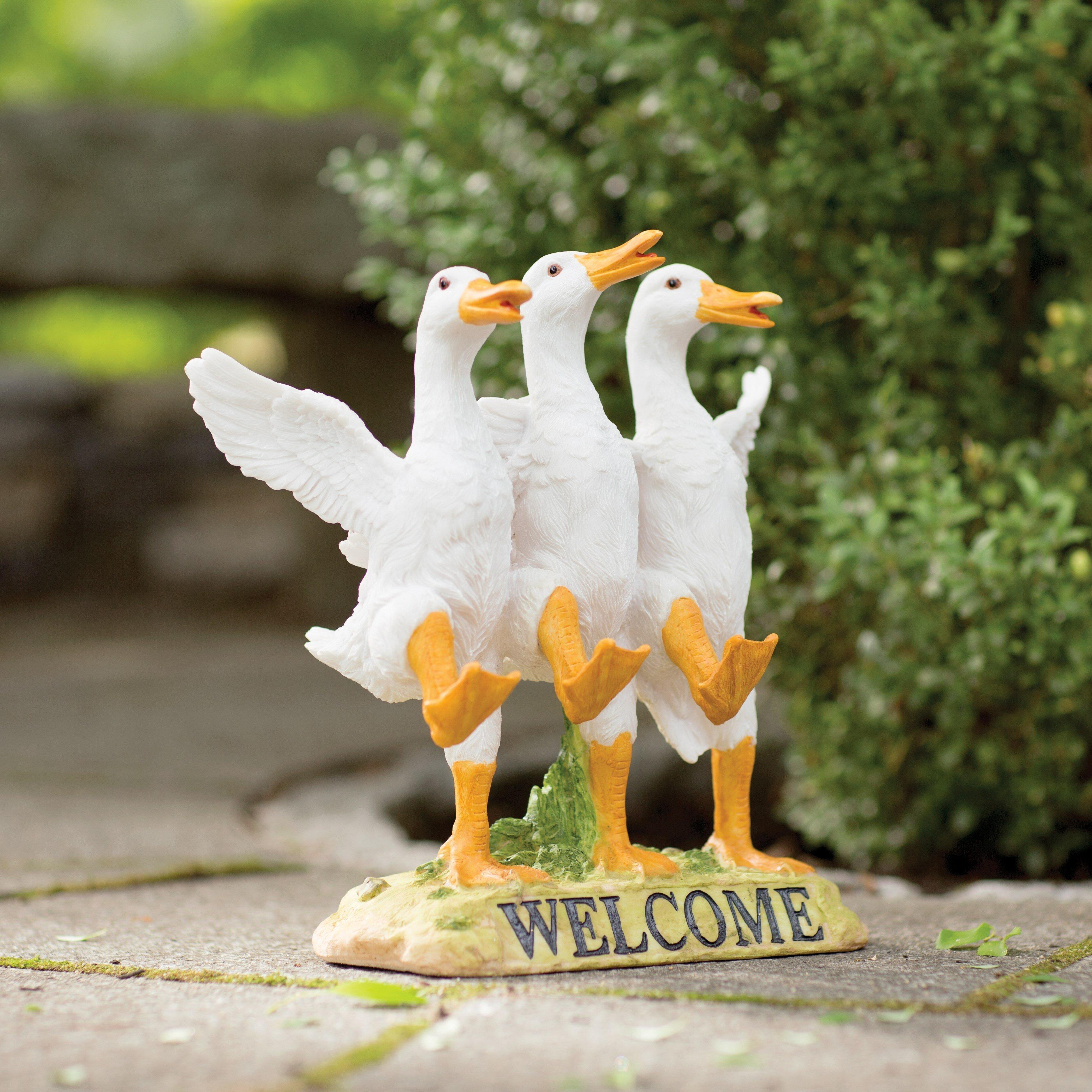 Design Toscano Delightful Dancing Ducks Welcome Garden Statue U0026 Reviews |  Wayfair