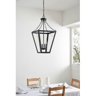 Piper 4-Light Lantern Chandelier by Charl..