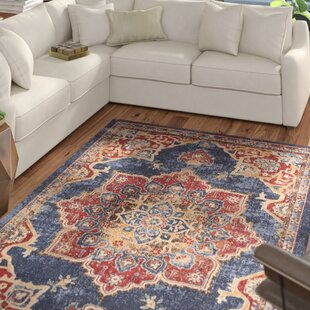 Online Reviews Dulin Blue/Rust Red Area Rug By Mercury Row