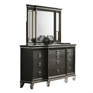 Norwich 10 Drawer Dresser with Mirror