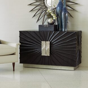 Pleated 2 Door Accent Cabinet by Global Views