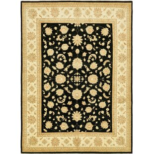 Find One-of-a-Kind Huntingdon Hand-Knotted 9' x 12'4 Wool Beige/Black Area Rug By Isabelline
