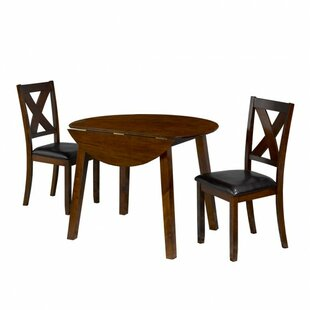 Kopynec 3 Piece Drop Leaf Breakfast Nook Dining Set