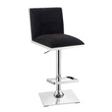 Normandie Swivel Upholstered Adjustable Height Extra Tail Stool by Orren Ellis