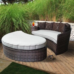 World Menagerie Duran Deluxe Patio Daybed with Cushions