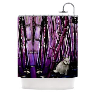 Bamboo Bunny Single Shower Curtain