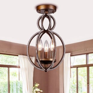 House of Hampton Federico 3-Light Semi Flush Mount