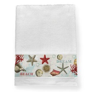 Resort Collection Set Of Two Sequined Flamingo Hand Towels New 100/% Cotton