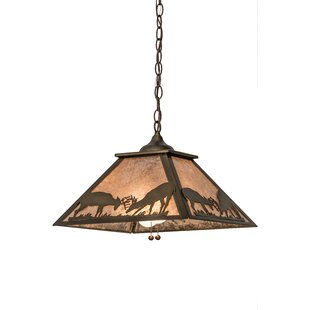 Meyda Tiffany Battling Bucks 2-Light Pool Table Light