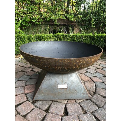 Seasons Fire Pits Pyramid Steel Wood Burning Fire Pit