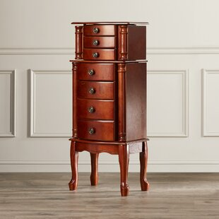 Astoria Grand Redfern Jewelry Armoire with Mirror