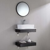 Bekah Stone Resin 24 Wall-Mounted Single Bathroom Vanity Set with Mirror by Wrought Studio™
