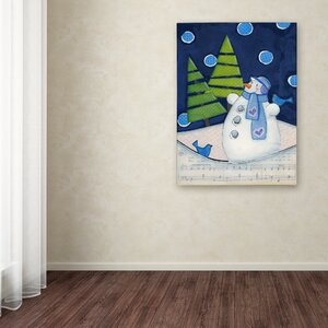 'Midnight Christmas' Print on Wrapped Canvas