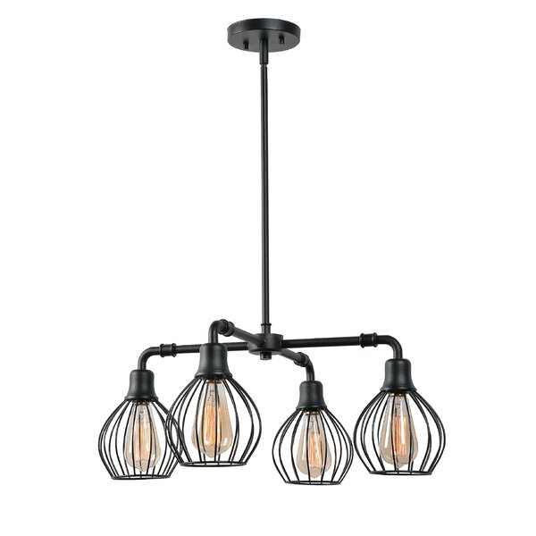 Williston Forge Krouse 4 Light Shaded Chandelier & Reviews by Williston Forge