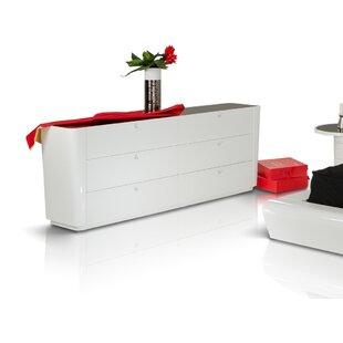 Orren Ellis Clower 6 Drawer Double Dresser