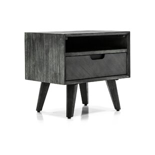 Mohave 1  Drawer Nightstand in Gray by Armen Living