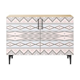Sadie 2 Door Cabinet by Bungalow Rose